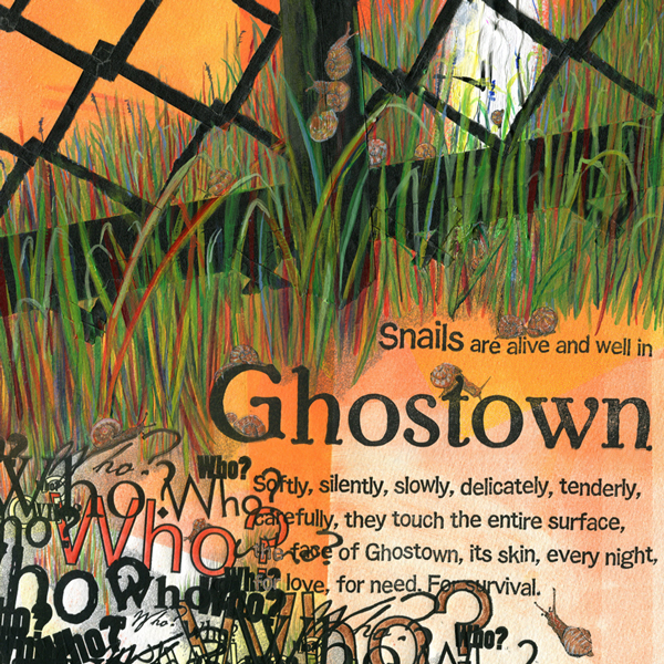 """""""Snails"""" detail from """"Ghostown"""""""